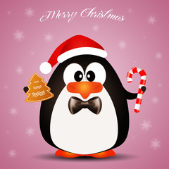 Penguin wishes Merry Christmas