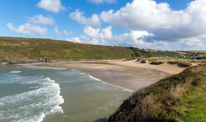 Waves Porthcothan Bay Cornwall England UK