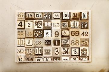 cartolina numeri vintage