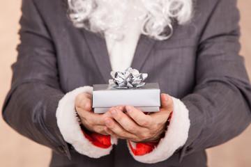 Business Santa Hold Gift Box