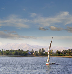 Boat on the Nile, Sailing on the Nile River, Luxor, Egypt