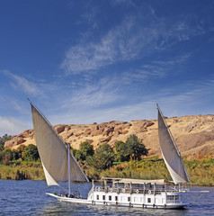 Sailing on the Nile, Egypt