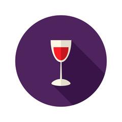 Christmas Glass of Wine Icon