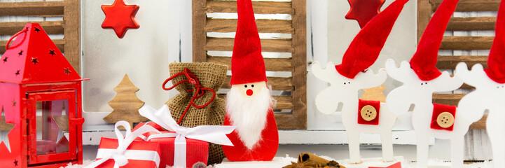 weihnachtsdekoration als banner