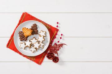 Christmas cookies, texture