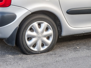 Car with Flat Tyre