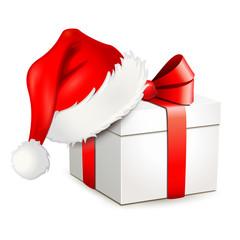 Geschenkbox mit Nikolaus-Mütze