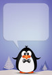 Penguin with comic