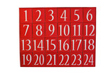 Advent calendar isolated on white