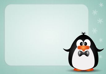 Funny penguin background