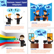 Business Import & Export Infographic. vector illustration
