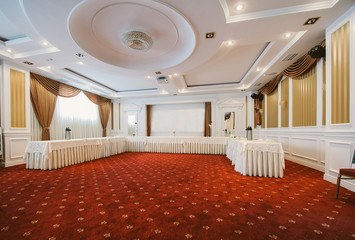 Conference room in classic style ready for coffee break