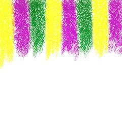 Vector Mardi Gras pastel crayon background