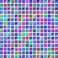 Seamless squared pattern on white background