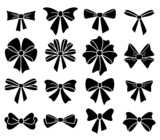 vector collection of bows on white background