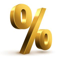 Prozent Symbol Gold