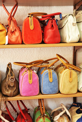 Leather bags and purses, accessories and complements