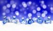 canvas print picture - Weihnachten / Kugeln / Hintergrund mit Bokeh