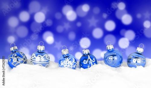 canvas print picture Weihnachten / Kugeln / Hintergrund mit Bokeh