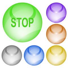 Stop. Vector interface element.