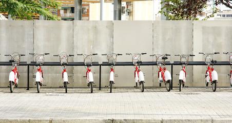 Aparcamiento bicicletas de alquiler, Barcelona