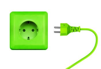 Grüner Stromanschluß