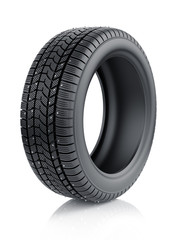 Winter tyre with metal spikes