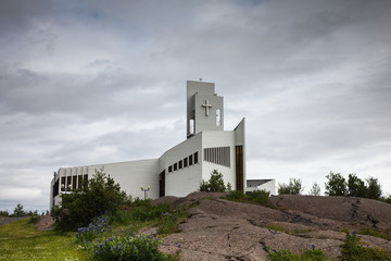 Modern church in Iceland