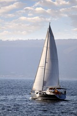 Sailing boat close to Alicante coast