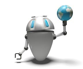 Robot con mondo