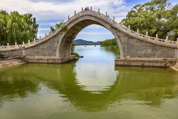 Moon Gate Bridge Reflection Summer Palace Beijing China