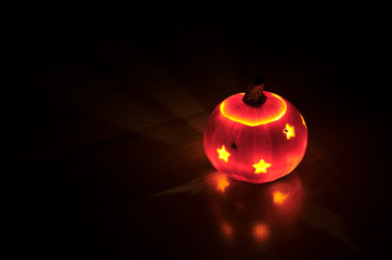Illuminated pumpkin