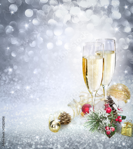 canvas print picture Celebration with champagne