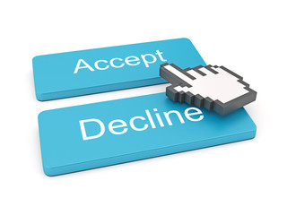 Accept and Decline Button