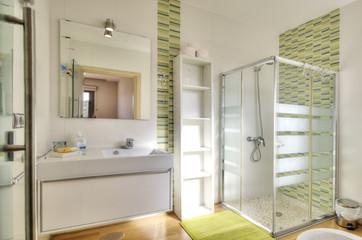 Modern bathroom in luxury villa