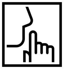 Keep silence icon