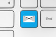 Mail keyboard button on grey keyboard.