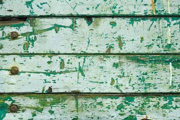grüner Holzhintergrund, Hintergrund, schäbig, abgenutzt