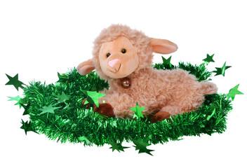 Toy fluffy sheep