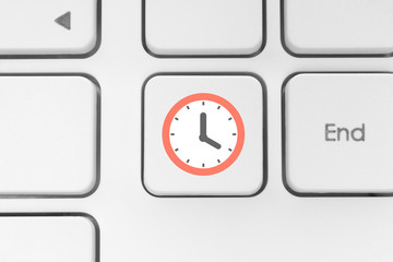 Clock on the keyboard button.
