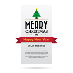 Christmas and Happy new year  card design