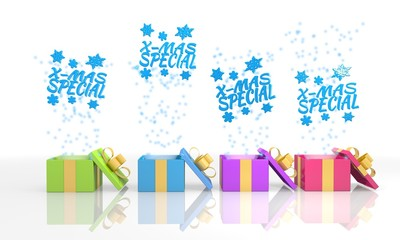 isolated present boxes with christmas special icon