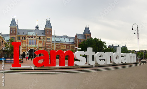Foto op Canvas Amsterdam i amsterdam words