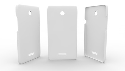 White plastic case for phone