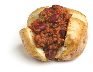 Jacket Potato with Chilli Topping