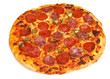 Pepperoni Pizza Isolated on White