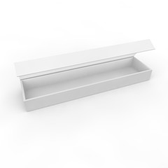 White blank box for jewelry and other gifts