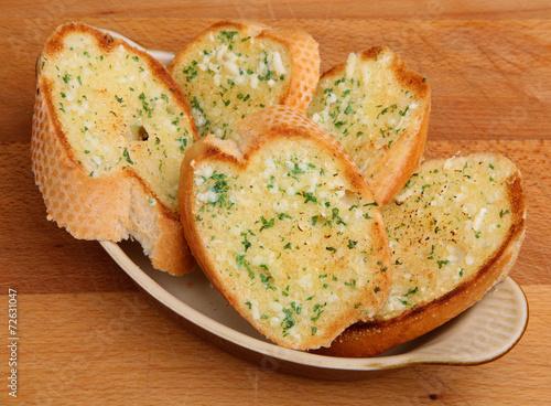 canvas print picture Garlic Bread Slices