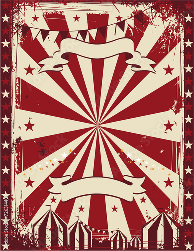 Vintage circus poster background advertising - 72631440