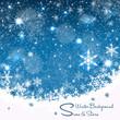 canvas print picture - Weihnachtskarte-Hintergrund II